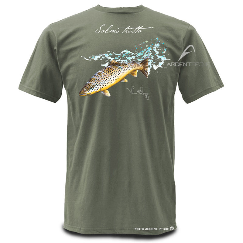 The Fly Trout Fly Fishing T Shirts Cool Fishing Shirts