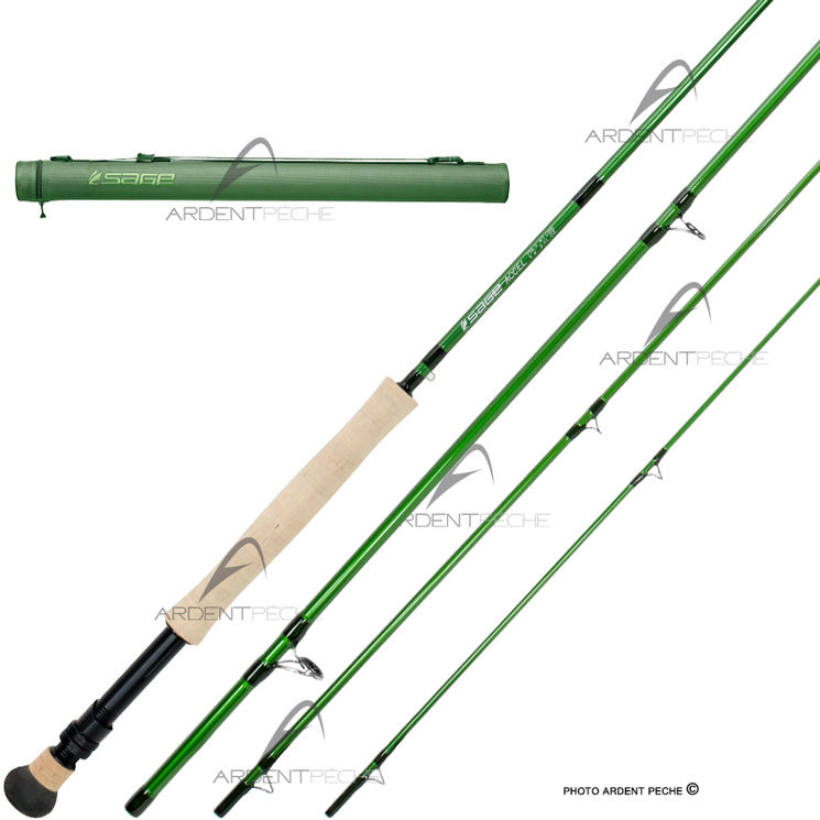 Canne 224 Mouche Sage Accel 10 180 Soie 7 D Ardent Fly Fishing
