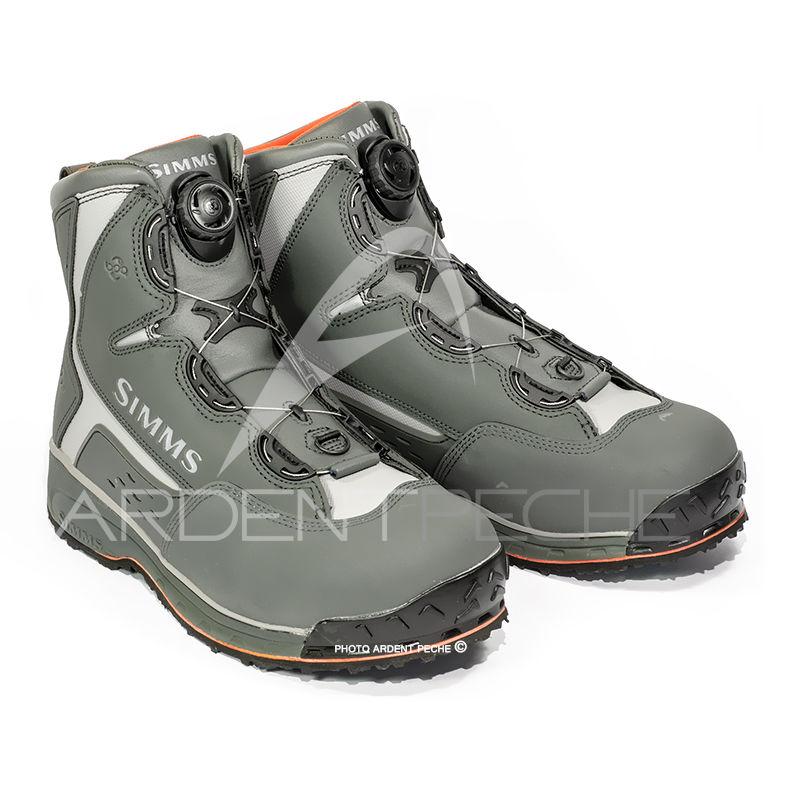 chaussures de wading simms rivertek 2 boa boot semelle vibram simms chaussures de wading. Black Bedroom Furniture Sets. Home Design Ideas