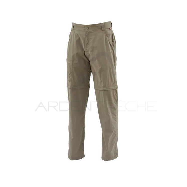 Pantalon SIMMS Superlight Zip-Off Pant Tumbleweed