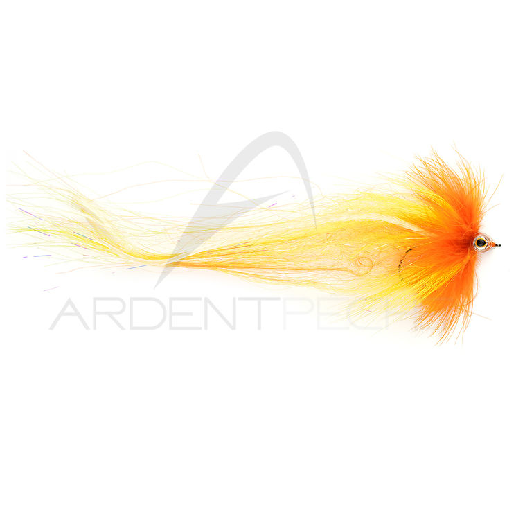 Mouche brochet Pike Yellow orange